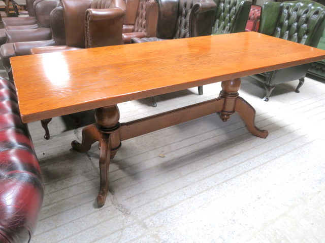Image of large refectory pedestal pub table