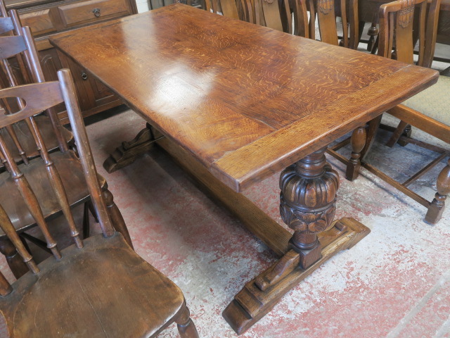 Image of large refectory pub table 001