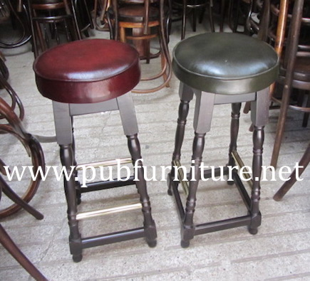 Image of Leather top pub barstools 001