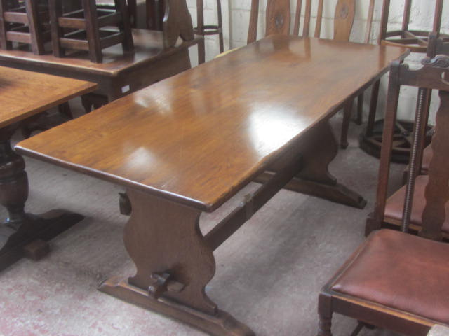 Image of large refectory pub table 002