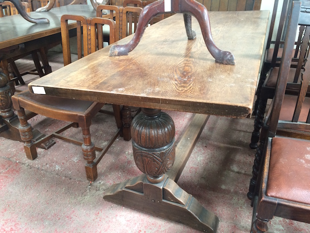 Image of large refectory pub table 003