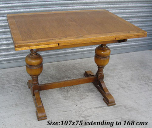 Light Oak Pedestal Pub Draw Leaf Table