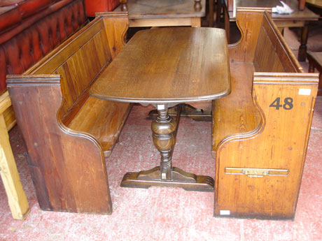 Refectory Pub Table and Pews
