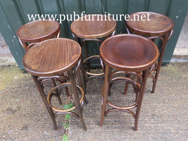 Image of tall bentwood barstools